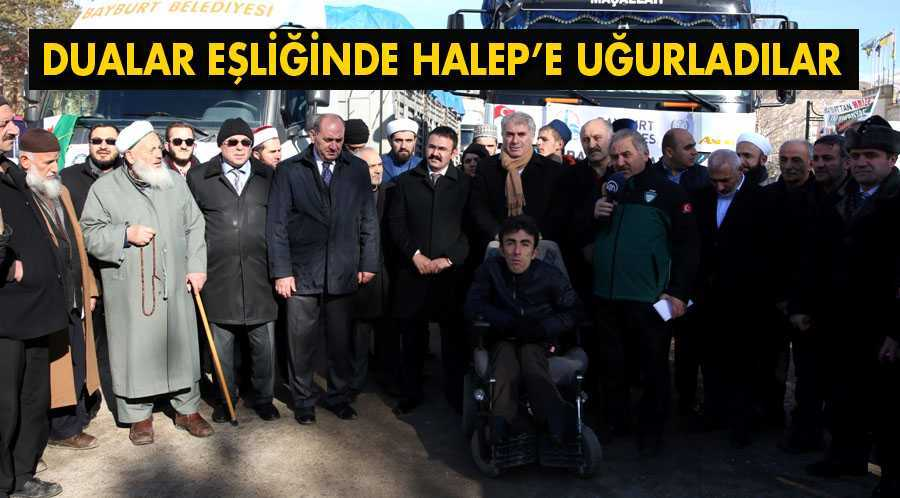 Bayburt'tan Halep'e Dualarla Uğurladılar