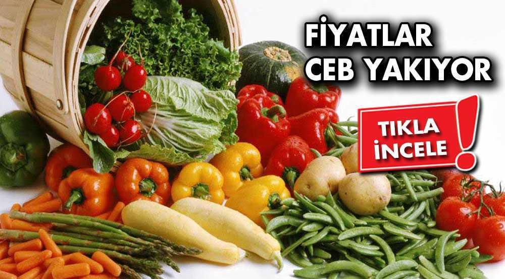 Bayburtta Sebze ve Meyve Fiyatları Uçuyor!