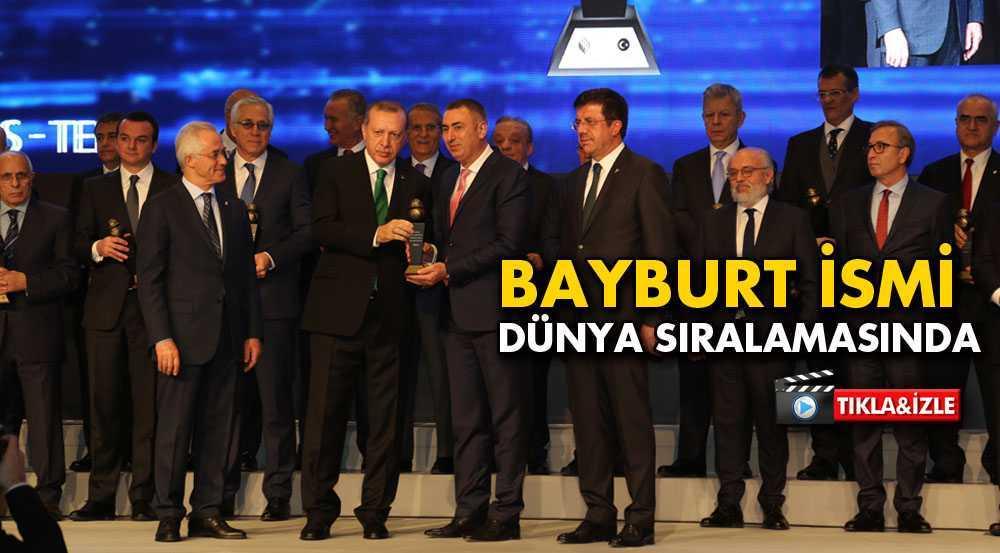 Cumhurbaşkanı Erdoğan'dan Bayburt Group'a Başarı Ödülü