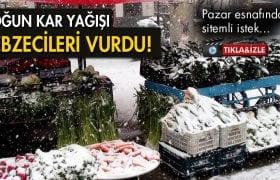 Yoğun Kar Yağışı Pazar Esnafını Vurdu!