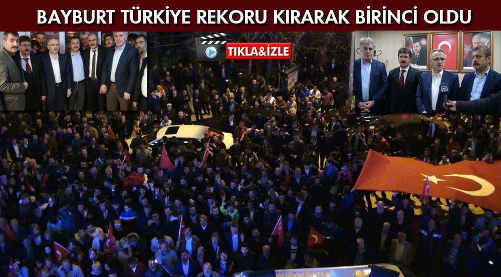 Bayburt Referandum Oylamasında Türkiye Rekoru Kırdı