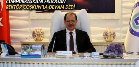 Cumhurbaşkanı Erdoğan, Rektör Coşkun'u Yeniden Atadı