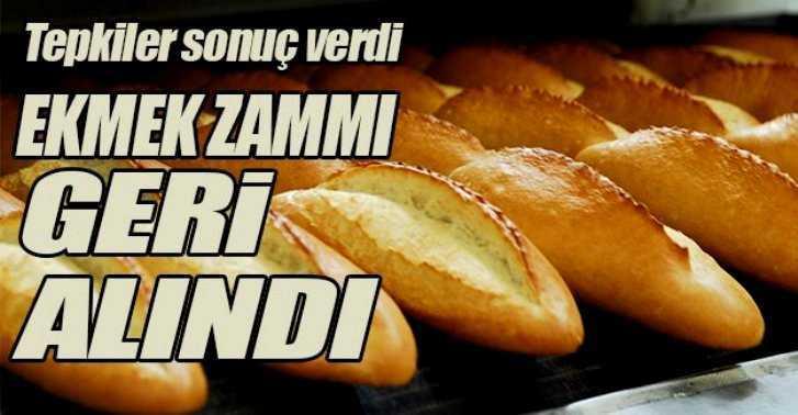 Bayburt'ta Ekmeğe Yapılan Zam Geri Çekildi