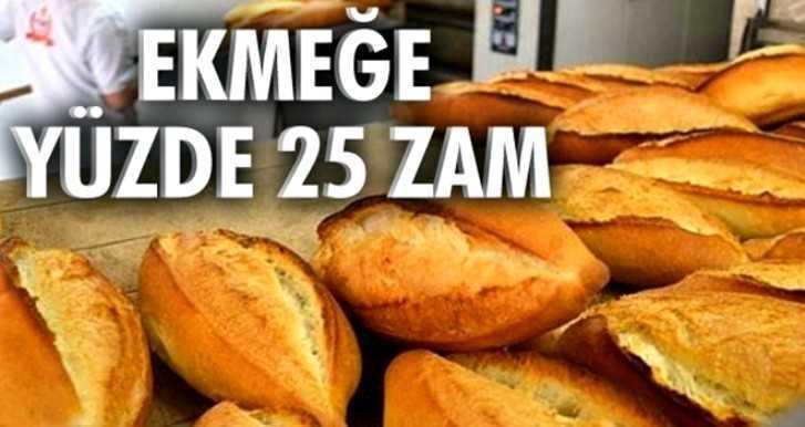 Bayburt'ta Ekmek Yüzde 25 Zamlandı