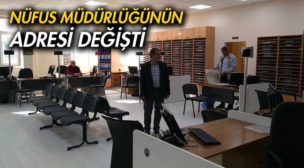 Nüfus ve Vatandaşlık Müdürlüğünün Adresi Değişti