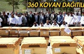 Bayburt'ta Bin 360 Adet Arılı Kovan Dağıtıldı