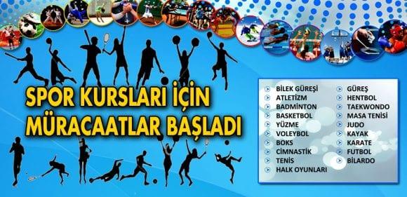 19 Branşta Spor Kursları Başlıyor