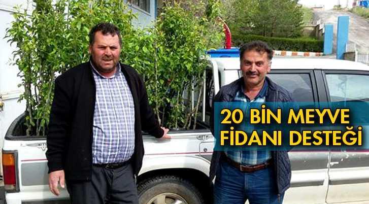 20 Bin Meyve Fidanı Desteği