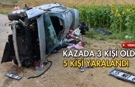Kazada 3 Kişi Öldü 5 Kişi Yaralandı