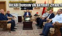 Anayasa Mahkemesi Üyesi Hicabi Dursun'un Memleket Ziyareti…