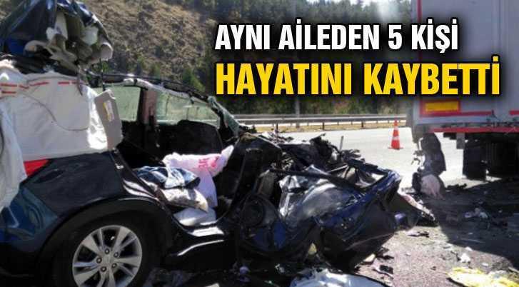 Kazada Bayburtlu Aynı Aileden 5 Kişi Hayatını Kaybetti