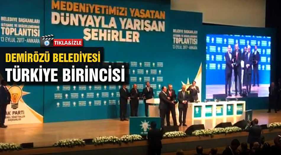 Demirözü Belediyesi Türkiye Birincisi