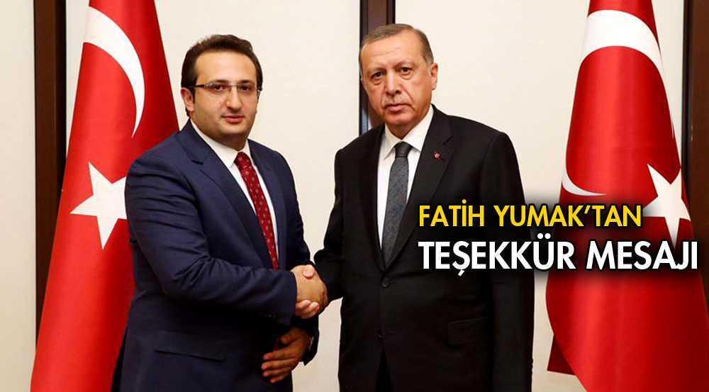 AK Parti'nin Yeni Başkanı Yumak'tan Teşekkür Mesajı