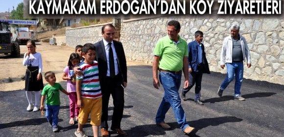 Kaymakam Erdoğan,dan Köy Ziyaretleri