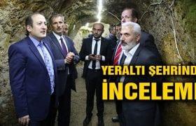 Bayburt Valisi Pehlivan,  Yeraltı Şehri'ni  Gezdi