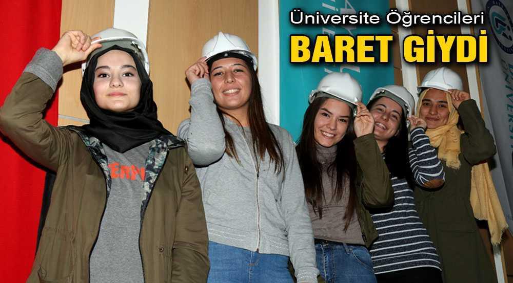 Bayburt Üniversitesi Öğrencileri Törenle Baret Giydi