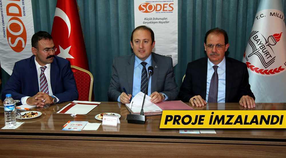 Bayburt Üniversitesi'nin SODES Projesi İmzalandı