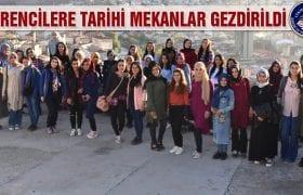 KYK Öğrencilerine Tarihi Mekanlar Gezdirildi