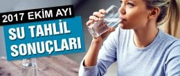 Bayburt'ta Ekim Ayı Su Tahlil Sonuçları