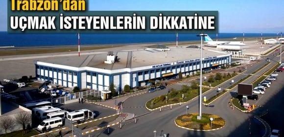 Trabzon Havalimanı Pisti Tadilata Alınıyor