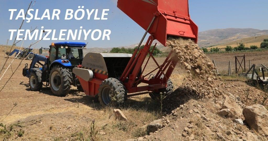 Tarım Arazilerinde Taşlar Makine İle Temizleniyor