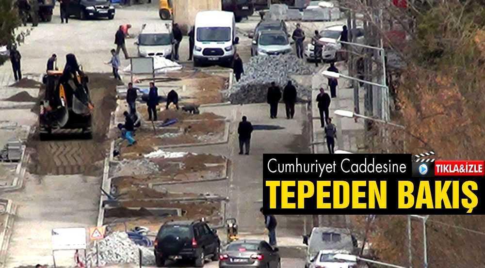 Cumhuriyet Caddesi Projesine Tepeden Bakış