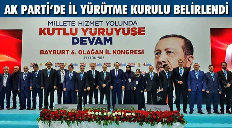 AK Parti Teşkilatında İl Yürütme Kurulu Belirlendi