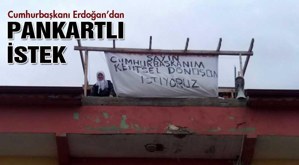 Cumhurbaşkanı Erdoğan, O Pankartı Gördü Mü?