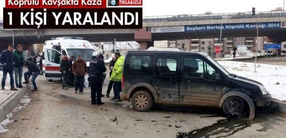 Köprülü Kavşakta Trafik Kazası 1 Yaralı