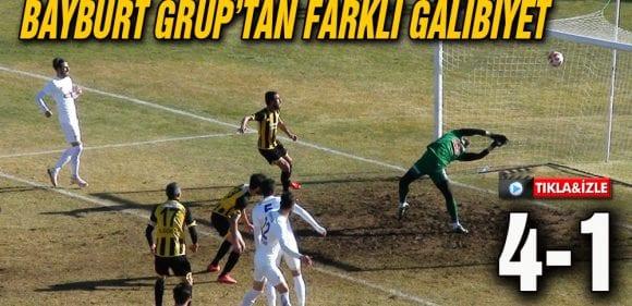 Bayburt Grup Yomraspor'u Farklı Mağlup Etti