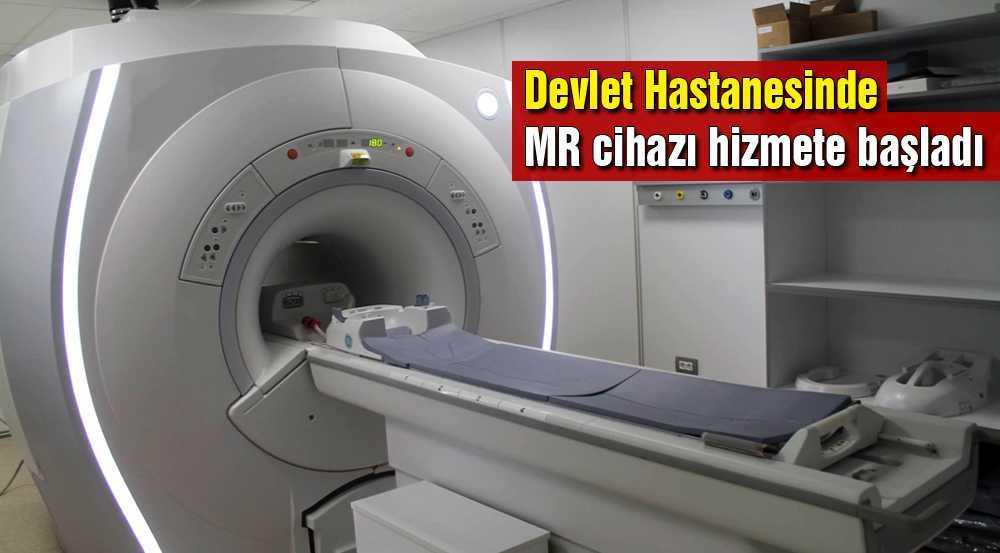 Bayburt Devlet Hastanesindeki MR Cihazı Hizmete Girdi