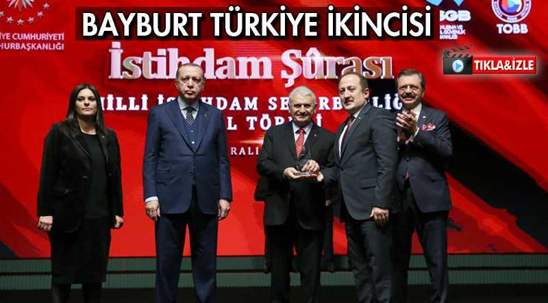 Bayburt İstihdamda Türkiye İkincisi Oldu