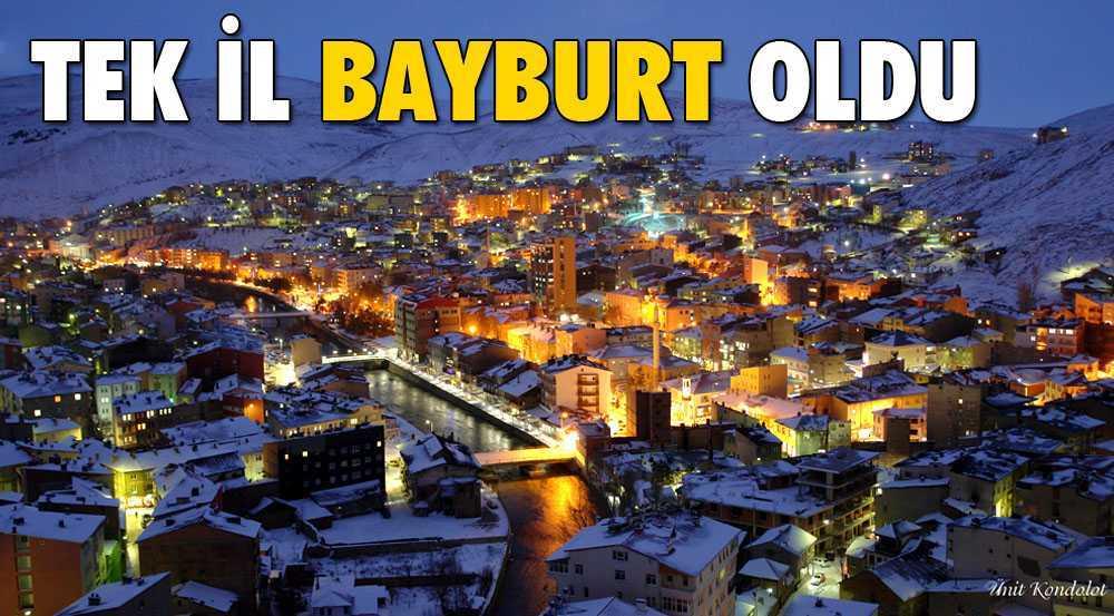 Türkiye'de Olay Olmayan Tek İl Bayburt