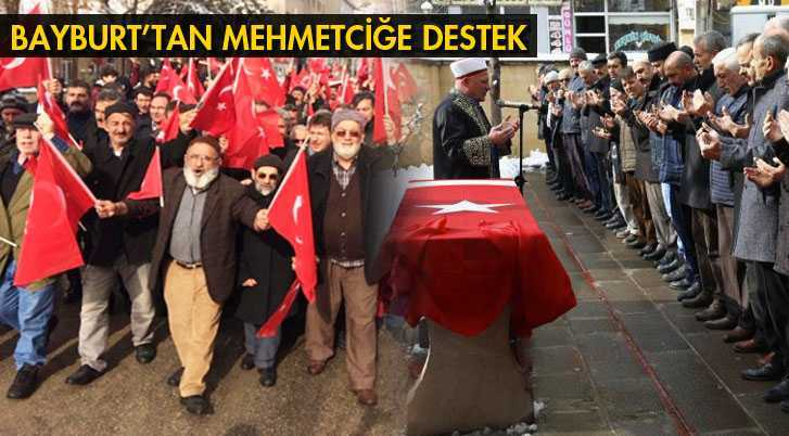 Afrin Şehitleri İçin Saf Tutuldu, Yürüyüş Düzenlendi