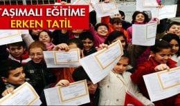 Bayburt'ta Taşımalı Eğitime Erken Tatil
