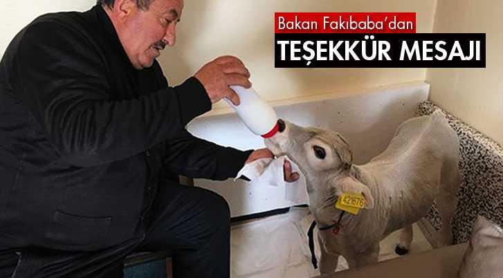 Bakan Fakıbaba'dan Teşekkür Mesajı