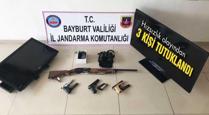 Hırsızlık Olayından 3 Kişi tutuklandı