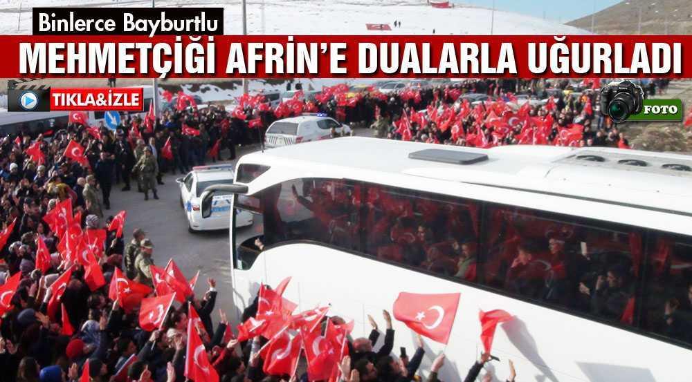Bayburt'ta Binler Mehmetçiği Afrin'e Dualarla Uğurladı