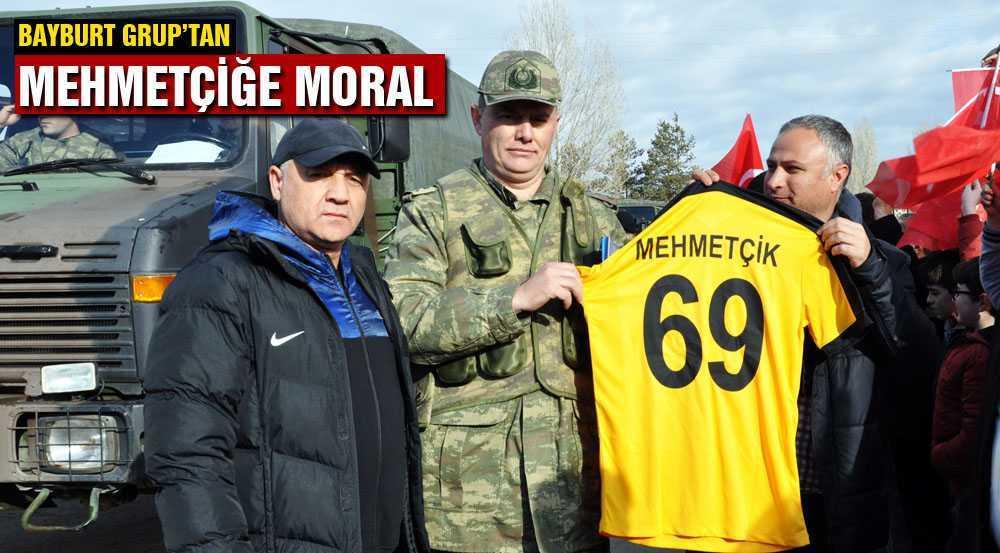 Mehmetçiğe Bayburt Grup'lu Futbolcularından Moral Desteği