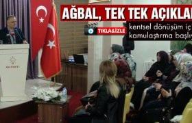 Bakan Ağbal, Şantiyeye Dönüşen Bayburt'u Tek Tek Anlattı