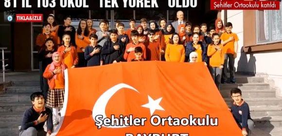 103 Okul Projesinde, Bayburt Şehitler Ortaokulu Yer Aldı