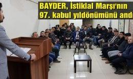BAYDER, İstiklal Marşı'nın 97. Kabul Yıldönümünü Andı