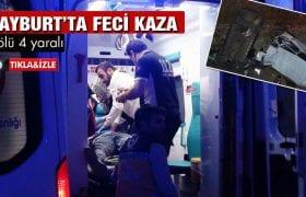Bayburt'ta Feci Kaza 8 Ölü 4 Yaralı