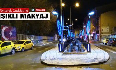 Bayburt'ta Pönserek Caddesinin İmajı Işıkla Değişti