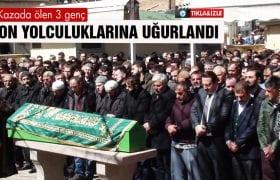 Bayburt'ta Kazada Ölen 3 Genç, Son Yolculuklarına Uğurlandı