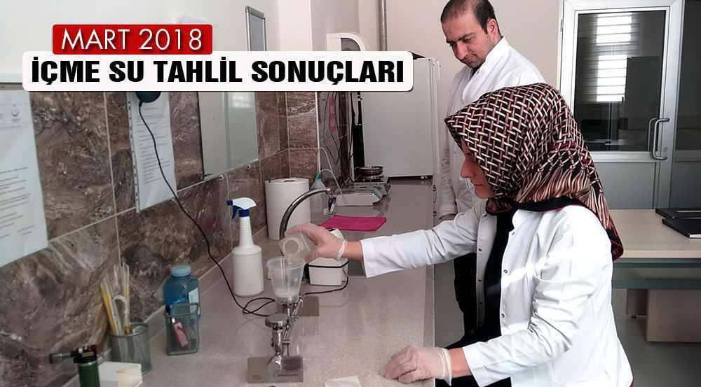 Bayburt'ta 2018 Mart Ayı İçme Su Tahlil Sonuçları