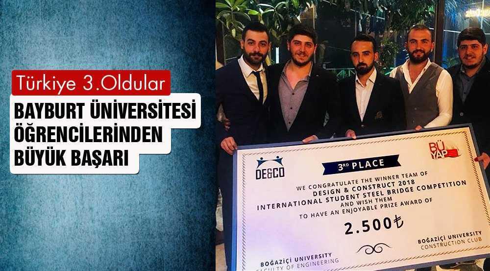 Bayburt Üniversitesi Öğrencilerden Türkiye Derecesi…