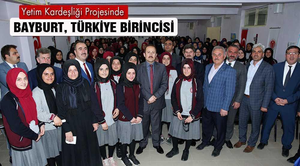 """Bayburt, """"Yetim Kardeşliği"""" Projesinde Türkiye Birincisi"""