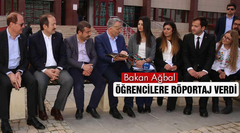 Bakan Ağbal, Üniversite Öğrencilerine Dergi İçin Röportaj Verdi