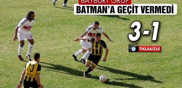 Bayburt Batman'a Geçit Vermedi